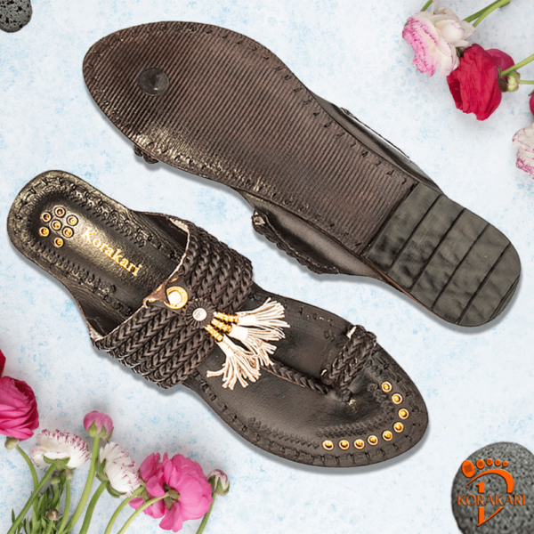 Kolhapuri Leather Chappal For Women